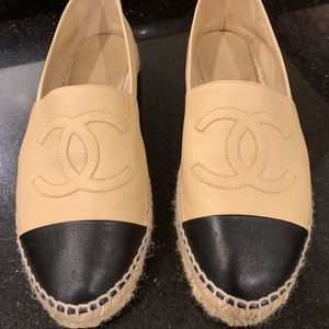 Chanel lambskin espadrilles EUC size 40 authentic